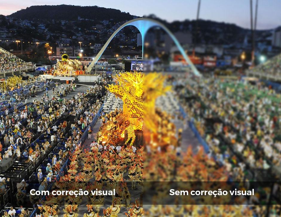 Correção visual com lentes de contato