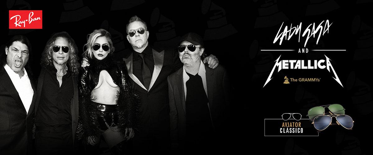 Lady Gaga Metallica RayBan