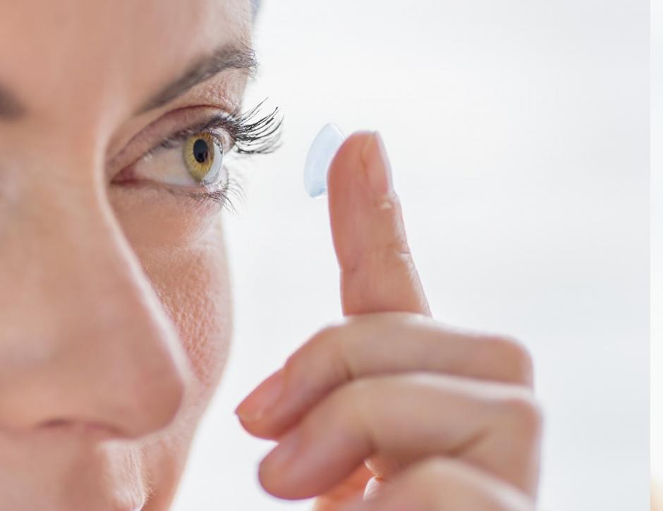 lentes de contato de descarte diário