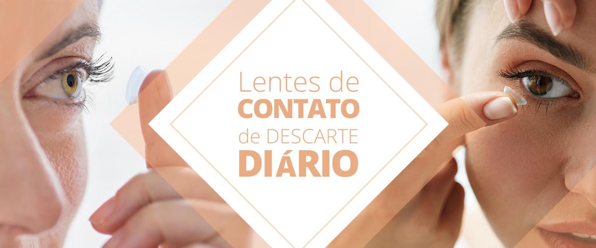 lente de contato de descarte diário