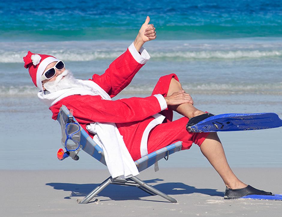 Feliz Natal na Praia