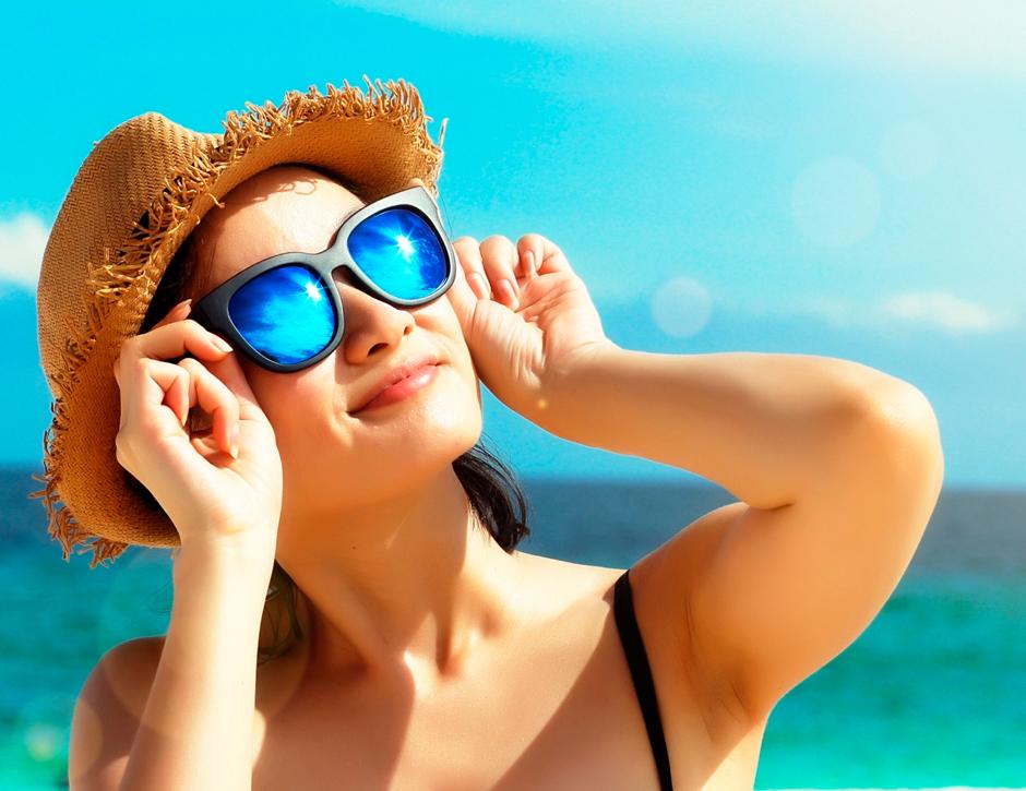 Use óculos de sol adequado