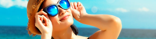 Use óculos de sol de qualidade