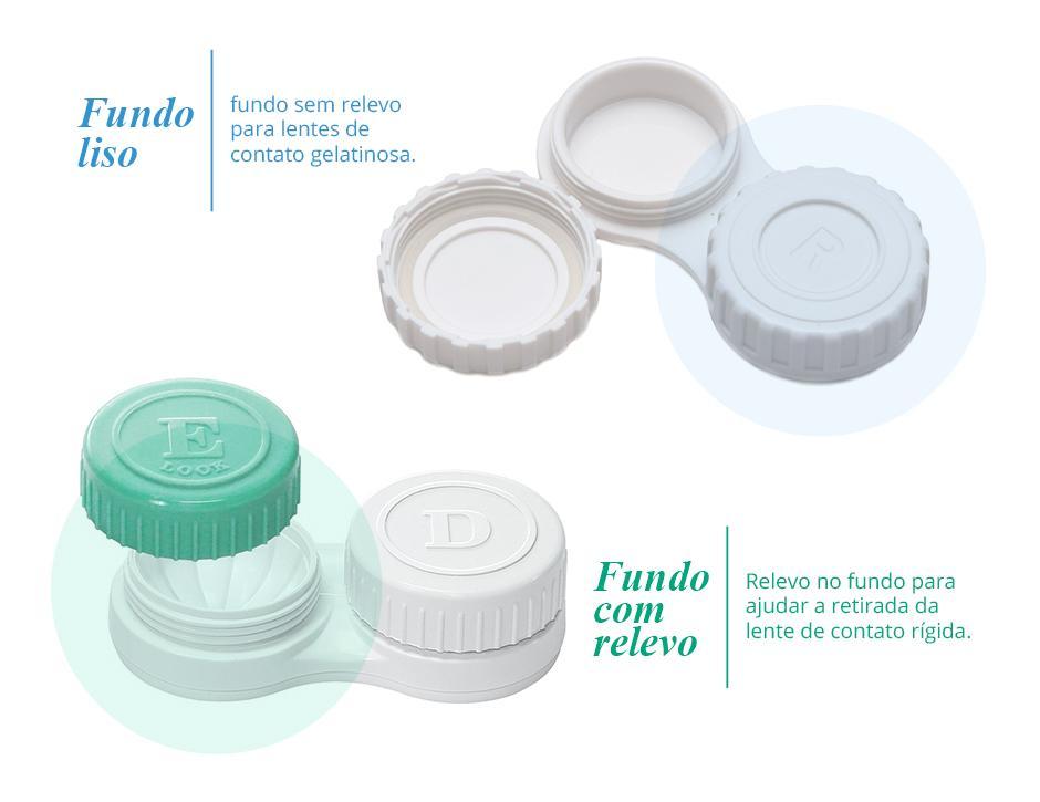 diferença entre os estojos e de lentes de contato