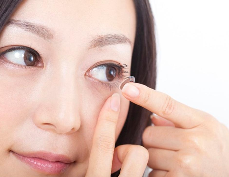 manutenção das suas lentes de contato
