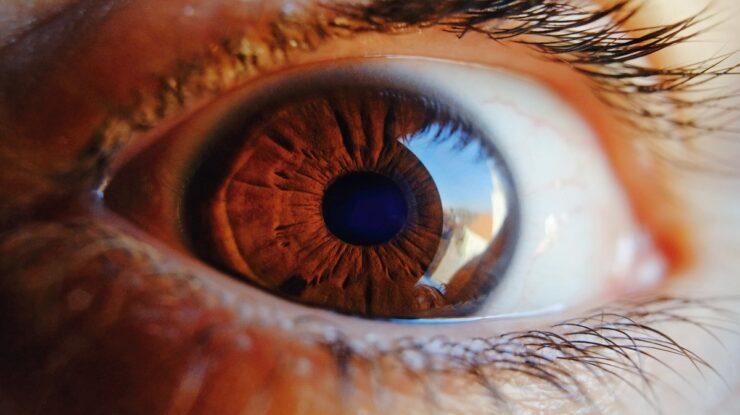 mudar a cor do olhos
