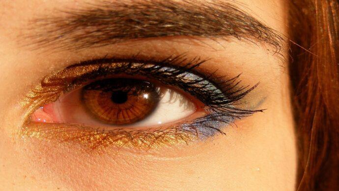 lente de contato com ouro